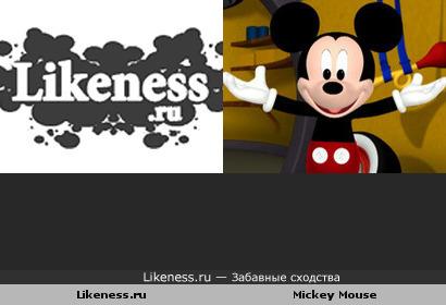 Логотип Likeness.ru и Микки Маус