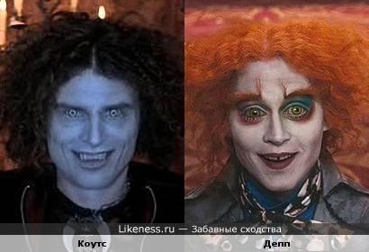 "Dimitri Coats (""Suck"") & Johnny Depp (""Alice in Wonderland"")"