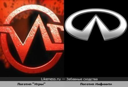 "Логотип реалити-шоу ""Игра"" на НТВ и логотип автомобиля Infiniti"