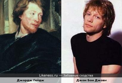 Джордж Гейдж на портрете Антониса ван Дейка и Джон Бон Джови