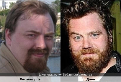 Публицист Егор Холмогоров и актер Райан Данн