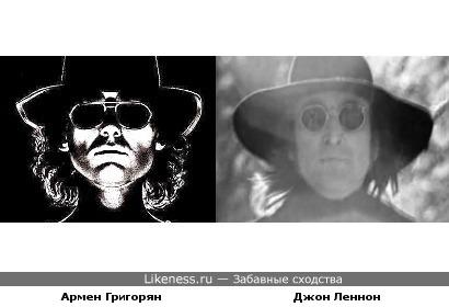 """Лидер группы """"Крематорий"""" Армен Григорян и Джон Леннон"""