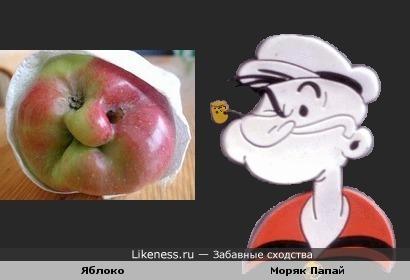 Яблоко и Моряк Папай