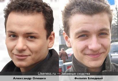 Актеры Александр Олешко и Филипп Бледный