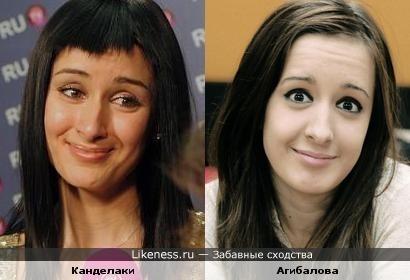 Тина Канделаки и Маргарита Агибалова