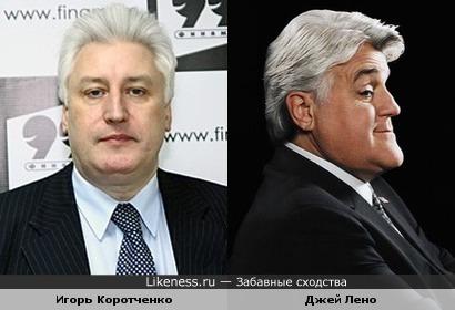 Председатель Общественного совета при Министерстве обороны РФ Игорь Коротченко и комик Джей Лено