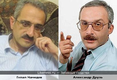 """Гилал Мамедов (журналист, снявший ролик """"Ты кто такой? Давай, до свидания!"""") и Александр Друзь"""
