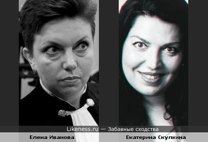 Cудья по делу Pussy Riot Елена Иванова и резидент Comedy Woman Екатерина Скулкина