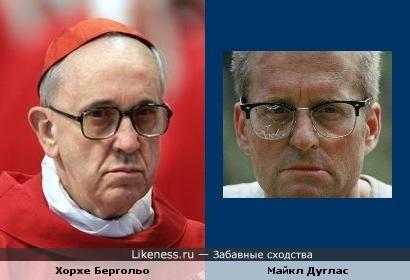 Папа Римский Франциск и Майкл Дуглас