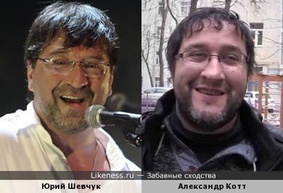 Рок-музыкант Юрий Шевчук и кинорежиссёр Александр Котт похожи