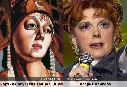 «Русская танцовщица» Тамары де Лемпицка похожа на Клару Новикову