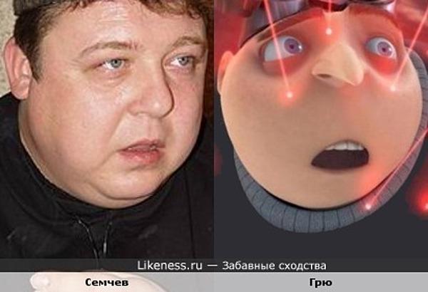 "Александр Семчев и Грю (м/ф ""Гадкий Я"")"