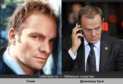 Музыкант Стинг похож на премьер-министра Польши Дональда Туска