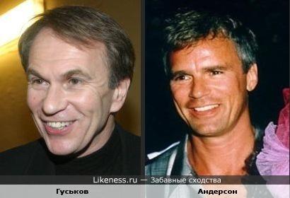 Алексей Гуськов похож на Ричарда Дина Андерсона
