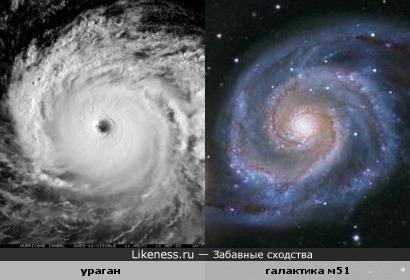 Ураган похож на галактику