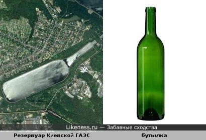 Резервуар Киевской ГАЭС похож на бутылку