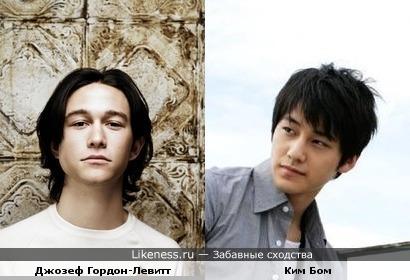 Джозеф Гордон-Левитт и корейский актер Ким Бом похожи