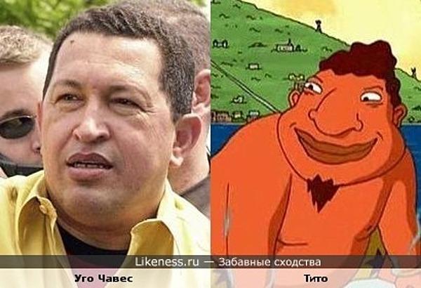 """персанаж из """"ракетной мощи"""" похож на Уго Чавеса"""