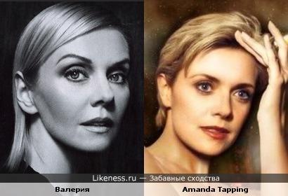 Валерия похожа на Аманду Таппинг