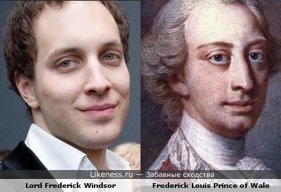 Фредерик Виндзор похож на своего предка и тёзку