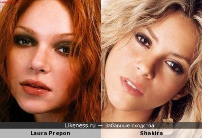 Лаура Препон и Шакира