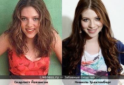 Мишель похожа на юную Скарлетт.