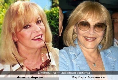 С возрастом Мишель Мерсье и Барбара Брыльска стали ещё больше похожи