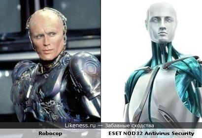 Robocop и Mr. Antivirus похожи