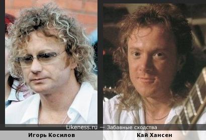 Игорь Косилов (Новые русские бабки) похож на Кая Хансена (гитариста/вокалиста Gamma Ray и др.)