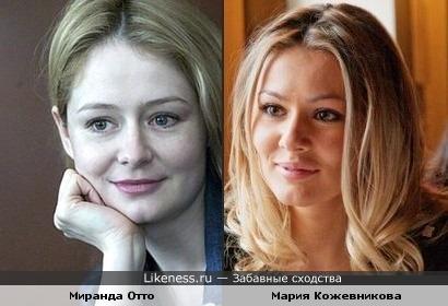 Чем-то Мария Кожевникова напоминает Миранду Отто