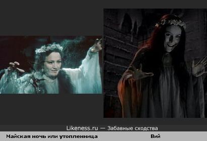 Майская ночь или утопленница ( Русалка ) = Вий ( Ведьма )