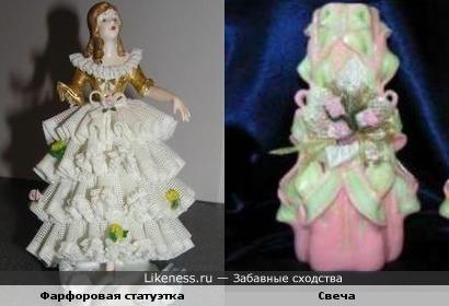Фарфоровая статуэтка = Свеча