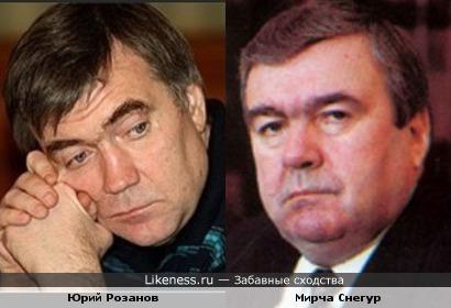 Юрий Розанов = Мирча Снегур