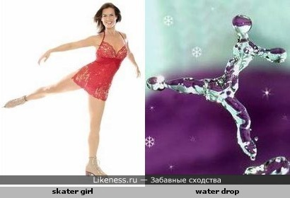 a drop of water like a skater girl