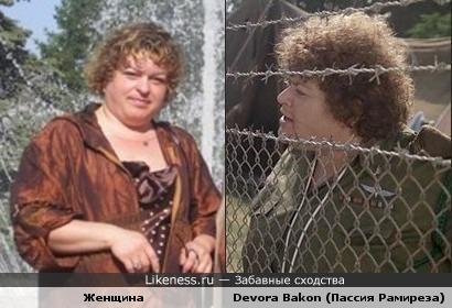 Женщина похожа на Devora Bakon