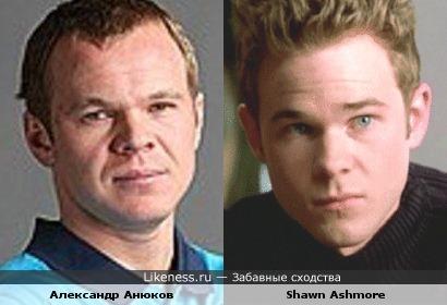 Александр Анюков и Shawn Ashmore похожи
