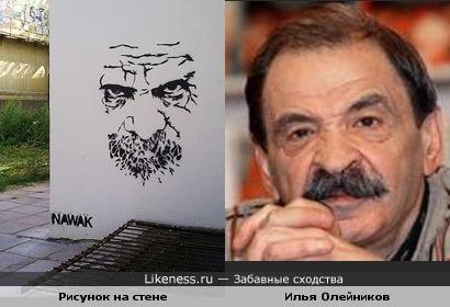 Рисунок на стене и Илья Олейников