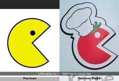 Pacman и Логотип кафе