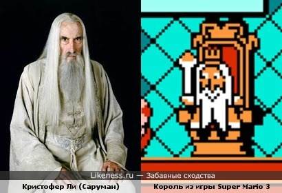Саруман и Король из игры Super Mario 3