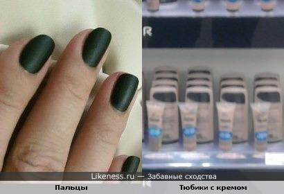Пальцы и Тюбики с кремом