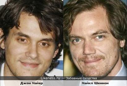 Джон Майер (John Mayer) похож на Майкла Шеннона (Michael Shannon)