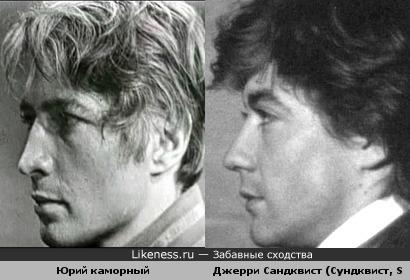 Джерри Сандквист похож на Юрия Каморного. Оба актеры, прожили по 37 и умерли не своей смертью.