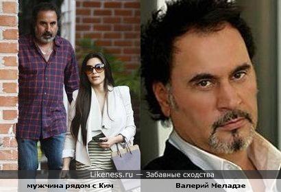 Кто это рядом с Ким Кардашьян? Валерий Меладзе?