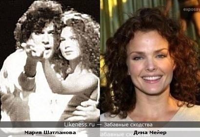 """Мария Шатланова (клипы Киркорова) похожа на актрису Дину Мейер (""""Звездный десант"""")"""