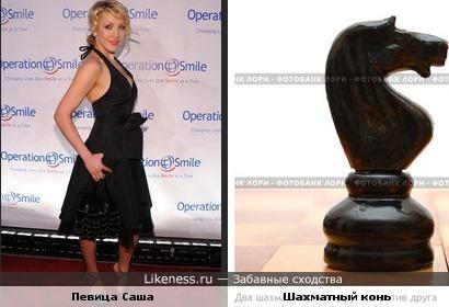 Поза певицы Саши сделала ее похожей на шахматного коня