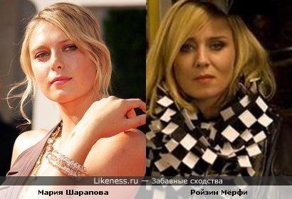 Мария Шарапова похожа на солистку Moloko Ройзин Мёрфи