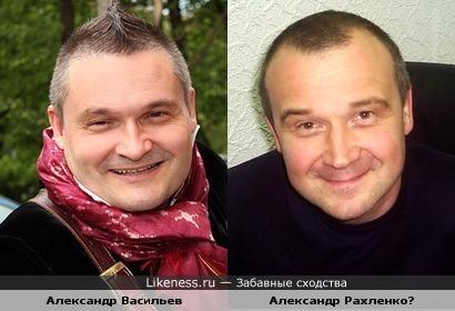 Актер дубляжа Александр Рахленко и историк моды Васильев. Мне кажутся похожими, а Вам? :)