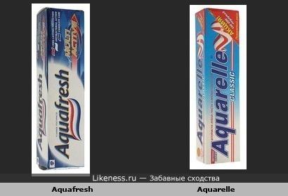 """Турецкий """"Aquarelle"""" близнец """" Aquafresh """""""