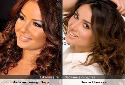 Азербайджанская звезда Евровидения похожа на украинскую певицу