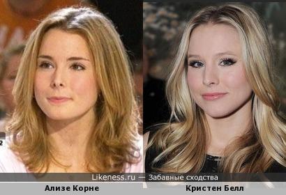 Теннисистка Ализе Корне и актриса Кристен Белл